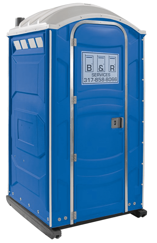 Portable Sanitation Services : Standard portable restroom sets the b r services